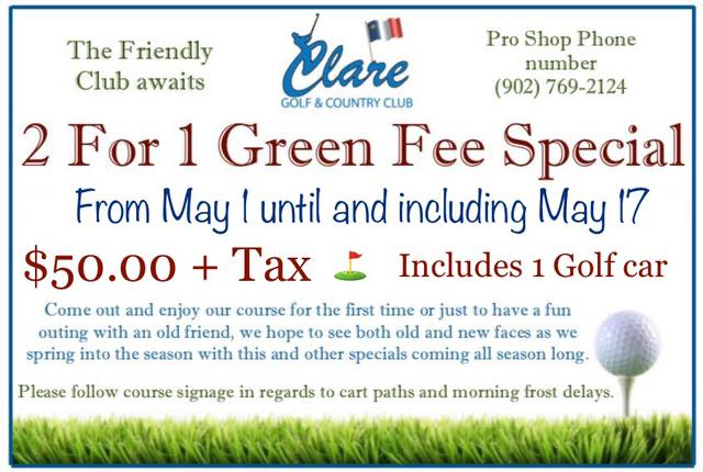 Green Fee Special !